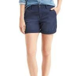 "Khaki's by GAP Navy Girlfriend 5"" Chino Shorts"